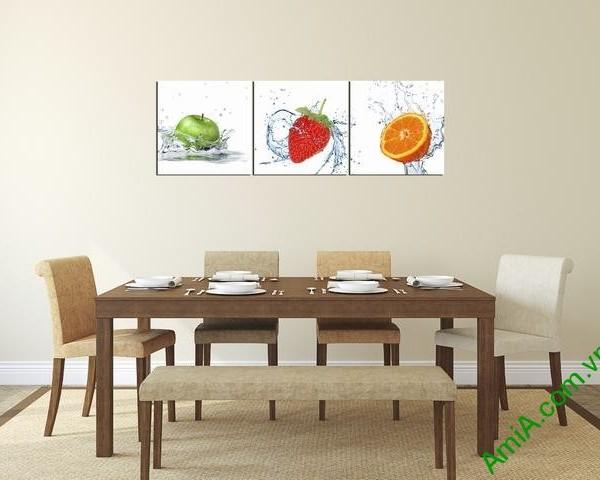 Tranh hoa quả treo tường phòng ăn hiện đại amia 314