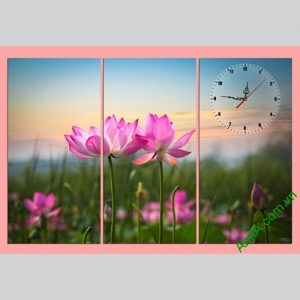Tranh hoa Sen treo tuong phong khach phong ngu thu thai