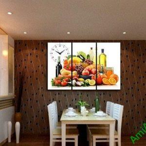 Tranh treo tường phòng ăn hiện đại hoa quả amia 386-01