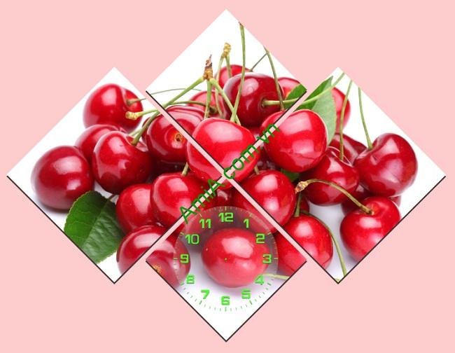 Đồng hồ tranh treo tường trang trí phòng ăn trái chery