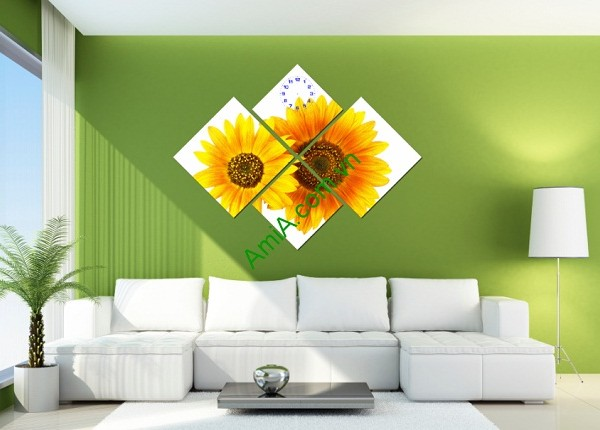 Tranh ghép nghệ thuật treo tường hoa Hướng Dương Amia 143-01