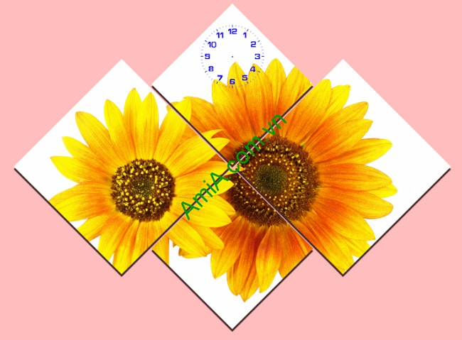 Tranh ghép nghệ thuật treo tường hoa Hướng Dương Amia 143