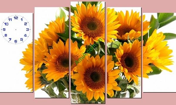 Tranh hoa hướng dương treo tường phòng khách amia 123