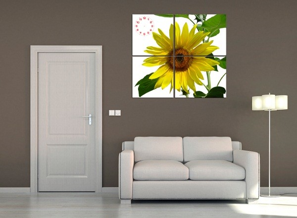 Tranh hoa hướng dương treo tường phòng khách amia 127-03