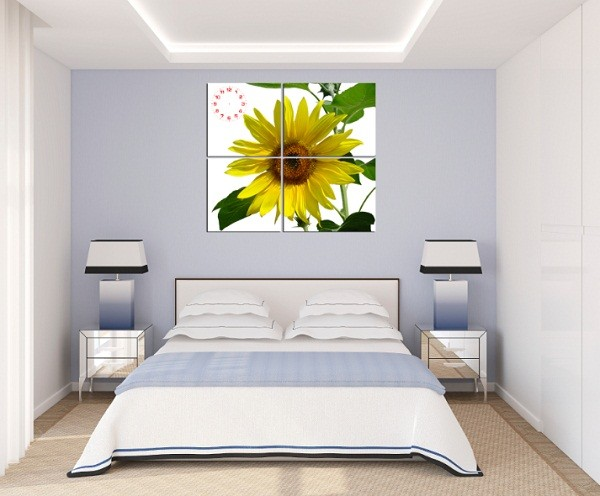 Tranh hoa hướng dương treo tường phòng khách amia 127-04