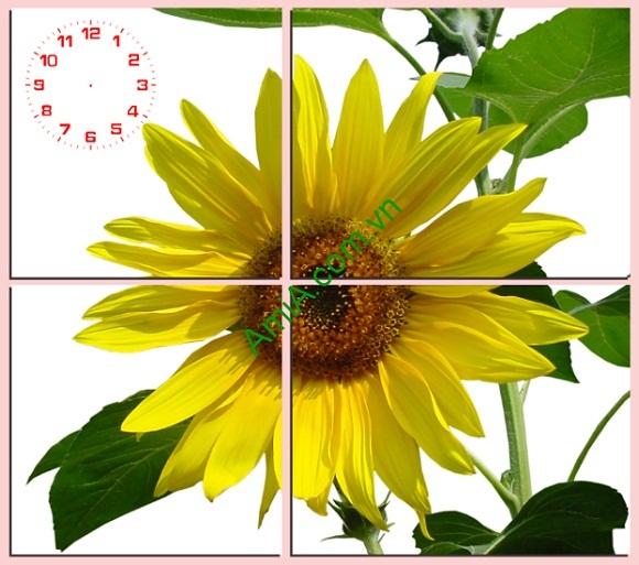 Tranh hoa hướng dương treo tường phòng khách amia 127