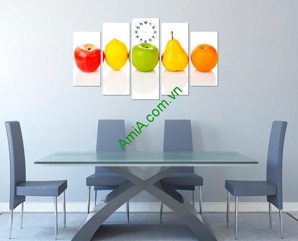 Tranh hoa quả treo tường phòng ăn amia 148-01