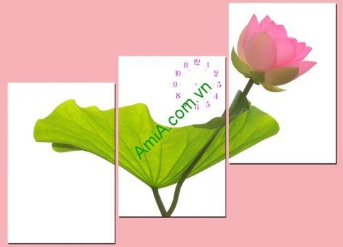 Tranh hoa Sen treo tường phòng khách hiện đại