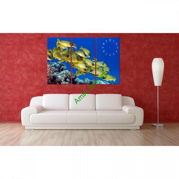 Tranh treo tường phòng khách, phòng trẻ em Đàn Cá Amia 139-00