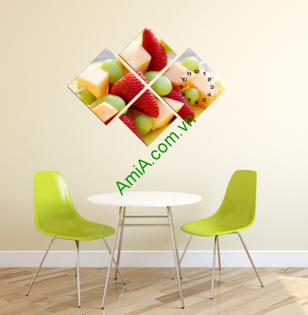 Tranh treo tường trang trí phòng ăn thạch dâu tây-01