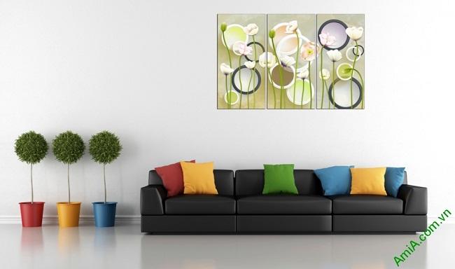 Tranh ghép nghệ thuật treo tường hình họa sáng tạo Amia 416-01