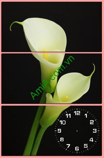 Tranh ghép treo tường kiểu đứng hoa Loa Kèn Amia 185