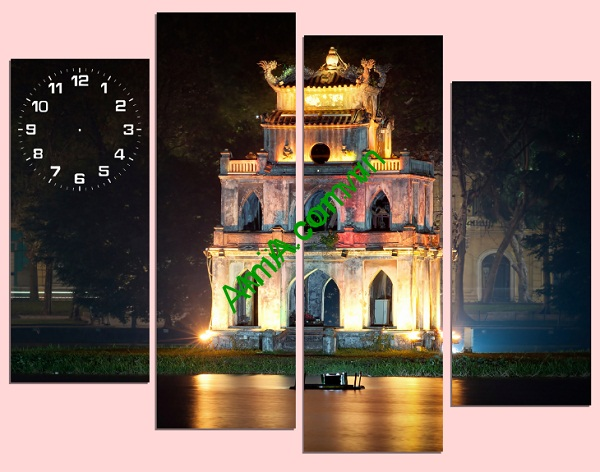 Tranh phong cảnh treo tường Gồ Gươm Lung Linh Amia 195