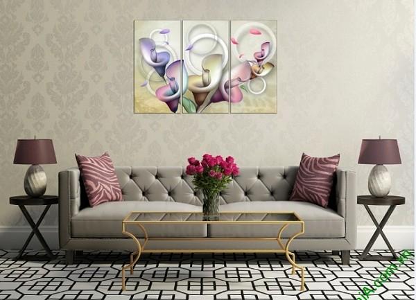 Tranh treo tường Vector hoa Zum trang trí phòng khách-01