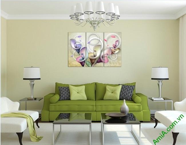Tranh treo tường Vector hoa Zum trang trí phòng khách-02