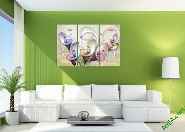 Tranh treo tường Vector hoa Zum trang trí phòng khách-03