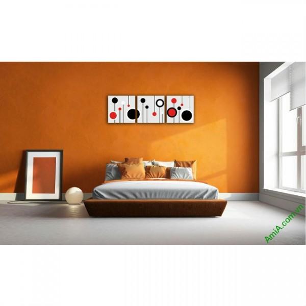 Tranh treo tường Vector trang trí phòng khách, phòng ngủ Amia 415-00