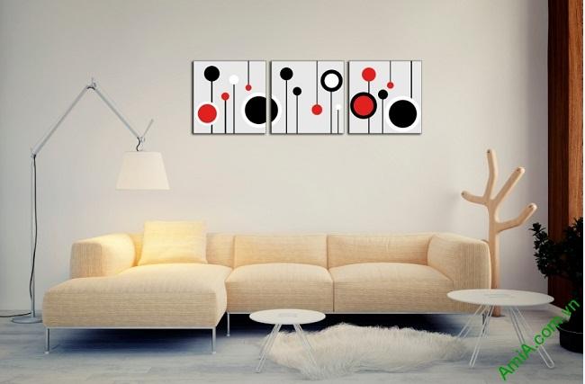 Tranh treo tường Vector trang trí phòng khách, phòng ngủ Amia 415-01
