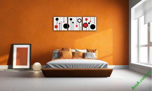 Tranh treo tường Vector trang trí phòng khách, phòng ngủ Amia 415-02