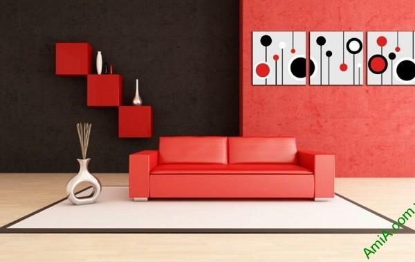 Tranh treo tường Vector trang trí phòng khách, phòng ngủ Amia 415-03