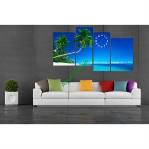 Tranh treo tường ghép nghệ thuật Biển Xanh 4 tấm Amia 177-00