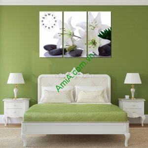 Tranh treo tường phòng khách, phòng ngủ Hoa Ly Trắng-02