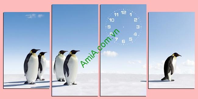 Tranh treo tường phòng khách, phòng trẻ em Chim cánh cụt