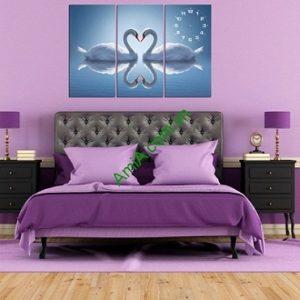 Tranh treo tường phòng ngủ Đôi Chim Thiên Nga Amia 162-00