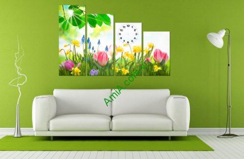 Tranh treo tường trang trí phòng khách Hoa Nắng Amia 191-01