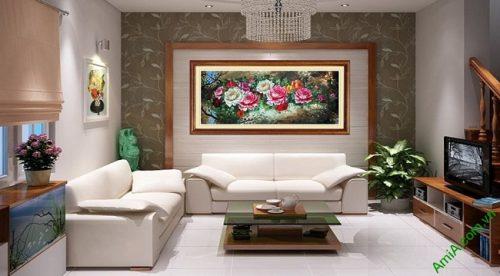 Tranh treo tường phòng khách, phòng ngủ hoa Mẫu Đơn-01