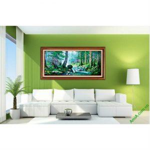 Tranh phong cảnh treo tường in giả sơn dầu Amia 430-00