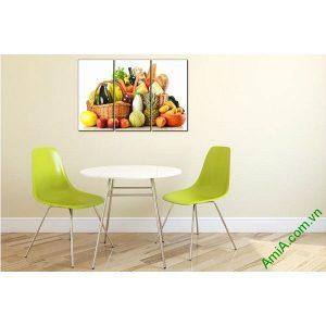 Tranh treo tường hoa quả trang trí phòng ăn Amia 448-00