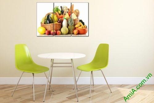 Tranh treo tường hoa quả trang trí phòng ăn Amia 448-01