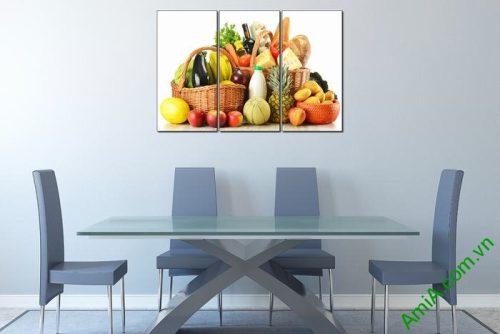 Tranh treo tường hoa quả trang trí phòng ăn Amia 448-02