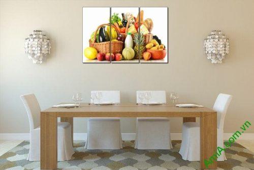 Tranh treo tường hoa quả trang trí phòng ăn Amia 448-03
