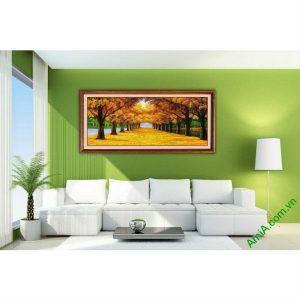 Tranh treo tường phong cảnh mùa thu lá vàng Amia 433-00