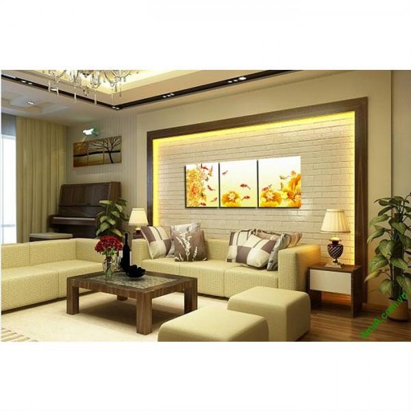 Tranh treo tường phòng khách hiện đại Cửu ngư quần hội-00