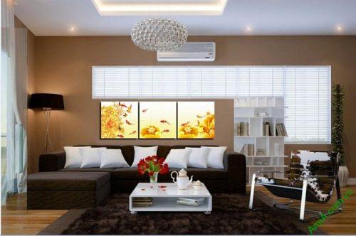 Tranh treo tường phòng khách hiện đại Cửu ngư quần hội-03