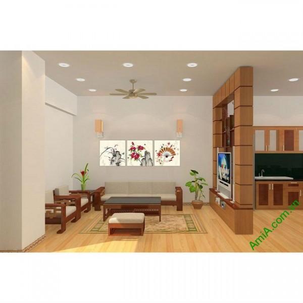 Tranh treo tường phòng khách nghệ thuật Amia 434-00