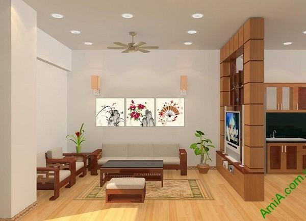 Tranh treo tường phòng khách nghệ thuật Amia 434-01