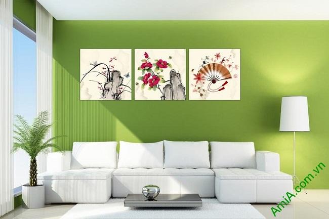 Tranh treo tường phòng khách nghệ thuật Amia 434-02