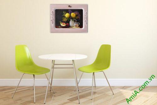 Tranh treo tường trang trí phòng ăn bàn trà Amia 462-01