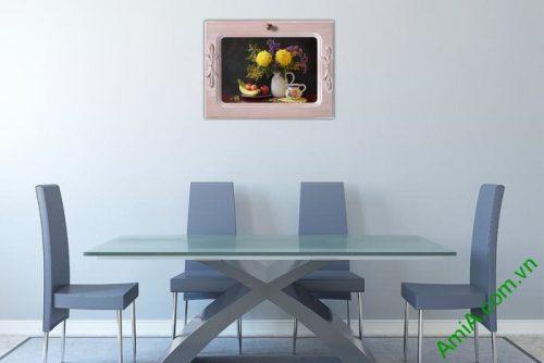 Tranh treo tường trang trí phòng ăn bàn trà Amia 462-02