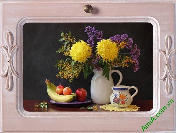 Tranh treo tường trang trí phòng ăn bàn trà Amia 462