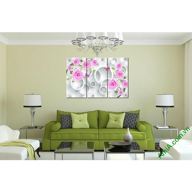 Tranh treo tường vector nghệ thuật hoa hồng Amia 435-00