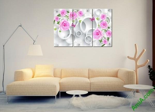 Tranh treo tường vector nghệ thuật hoa hồng Amia 435-01
