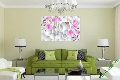 Tranh treo tường vector nghệ thuật hoa hồng Amia 435-03