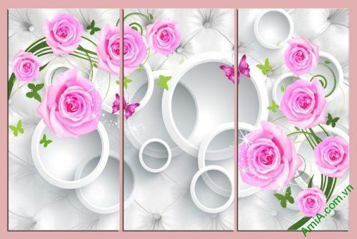 Tranh treo tường vector nghệ thuật hoa hồng Amia 435