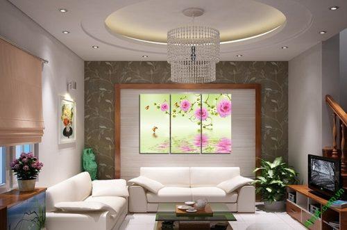 Tranh treo tường vector nghệ thuật hoa mẫu đơn Amia 428-01