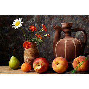 Tranh bàn hoa quả treo tường phòng ăn AmiA 628-00